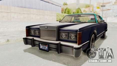 GTA 5 Dundreary Virgo Classic Custom v2 IVF para GTA San Andreas vista direita