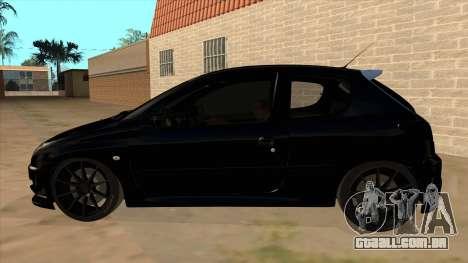 Peugeot 206 MO Edit para GTA San Andreas esquerda vista