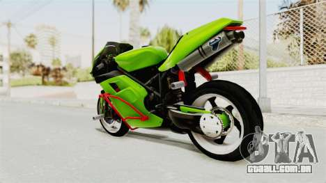Ducati 998R Modif Stunt para GTA San Andreas esquerda vista