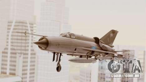 O MIG-21 BIS da Força Aérea Argentina para GTA San Andreas