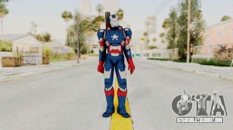 Marvel Heroes - Iron Patriot para GTA San Andreas segunda tela