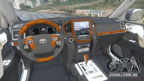 Toyota Land Cruiser 200 2016 v1.1 para GTA 5