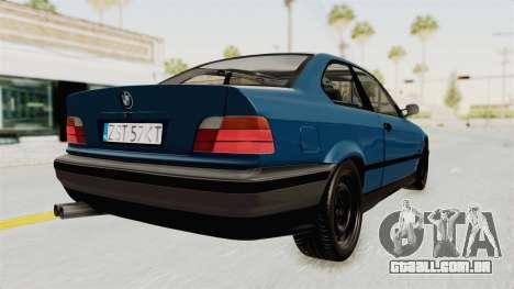 BMW 325i E36 para GTA San Andreas vista direita