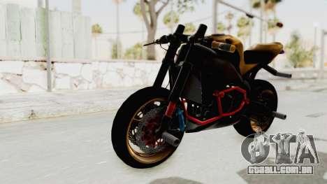 Honda CBR1000RR Naked Bike Stunt para GTA San Andreas vista direita