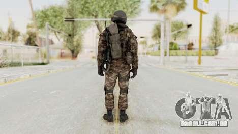 CoD MW3 Russian Military SMG v1 para GTA San Andreas terceira tela