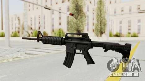 HD M4 v1 para GTA San Andreas segunda tela