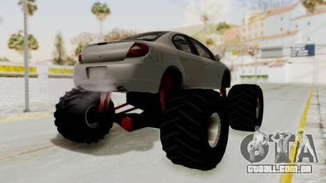 Dodge Neon Monster Truck para GTA San Andreas vista direita