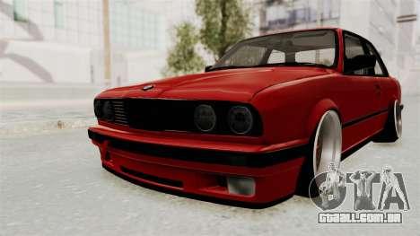 BMW M3 E30 Camber Low para GTA San Andreas traseira esquerda vista