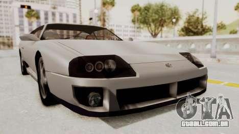 Jester Supra para GTA San Andreas traseira esquerda vista