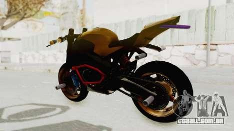 Honda CBR1000RR Naked Bike Stunt para GTA San Andreas traseira esquerda vista