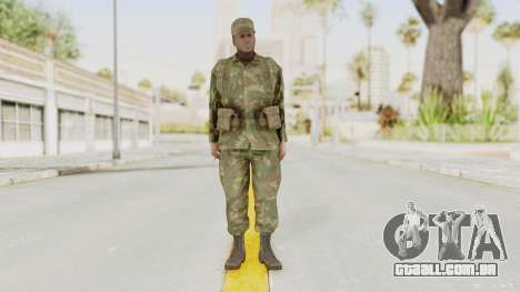 MGSV Ground Zeroes US Soldier Armed v1 para GTA San Andreas segunda tela