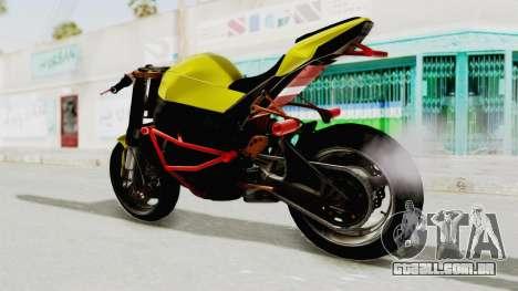 Kawasaki Ninja ZX-10R Nakedbike Stunter para GTA San Andreas vista direita