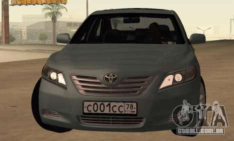 Toyota Camry 2007 para GTA San Andreas esquerda vista