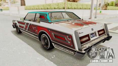 GTA 5 Dundreary Virgo Classic Custom v3 para GTA San Andreas vista inferior