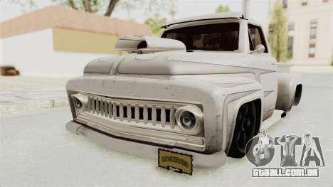 GTA 5 Slamvan Lowrider PJ1 para GTA San Andreas vista traseira