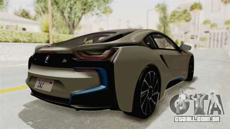 BMW i8-VS 2015 para GTA San Andreas traseira esquerda vista