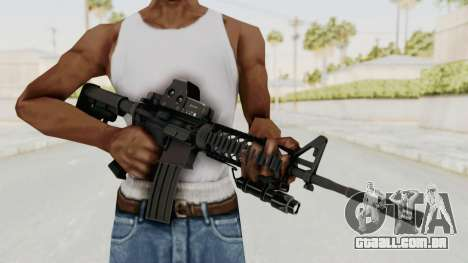 AR-15 with Eotech 552 and Flashlight para GTA San Andreas terceira tela