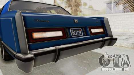GTA 5 Dundreary Virgo Classic Custom v1 IVF para GTA San Andreas interior