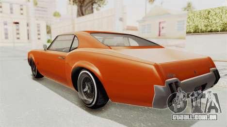 GTA 5 Declasse Sabre GT2 B para GTA San Andreas esquerda vista