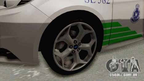 Ford Focus ST 2013 PDRM para GTA San Andreas vista traseira