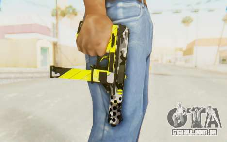 Tec-9 Neural Yellow para GTA San Andreas terceira tela
