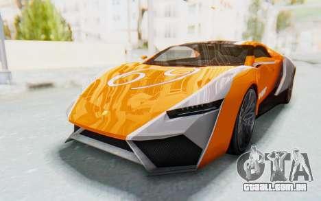 GTA 5 Pegassi Reaper SA Lights para GTA San Andreas vista traseira