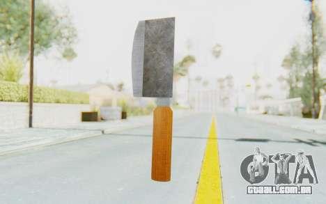 Butcher Knife para GTA San Andreas segunda tela