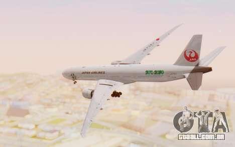 Boeing 777-300ER Japan Airlines v1 para GTA San Andreas vista direita