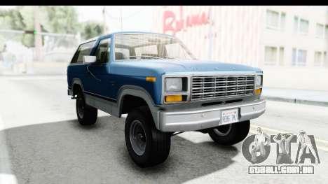 Ford Bronco 1980 Roof para GTA San Andreas