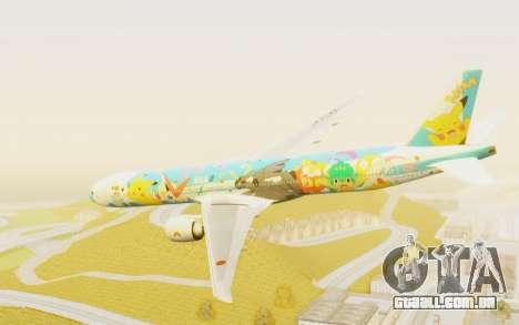 Boeing 777-300ER ANA JA754A - Peace Jet para GTA San Andreas esquerda vista