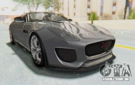 Jaguar F-Type Project 7 para GTA San Andreas traseira esquerda vista