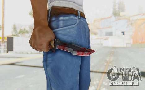 Huntsman Knife para GTA San Andreas terceira tela