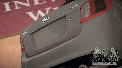 Kia Rio para GTA San Andreas vista interior