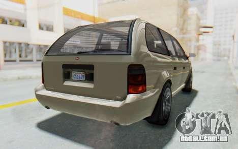 GTA 5 Vapid Minivan IVF para GTA San Andreas vista direita