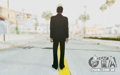Mafia 2 - Vito Scaletta Madman Suit Black para GTA San Andreas terceira tela