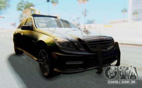 Mercedes-Benz E63 German Police Green para GTA San Andreas vista direita