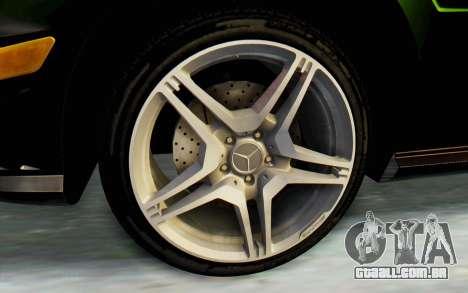 Mercedes-Benz E63 German Police Green para GTA San Andreas vista traseira