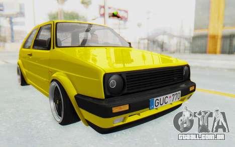 Volkswagen Golf Mk2 Lemon para GTA San Andreas vista direita