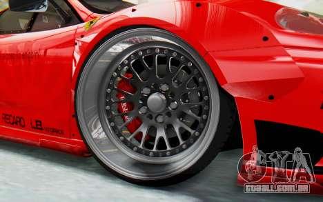 Ferrari 360 Modena Liberty Walk LB Perfomance v2 para GTA San Andreas traseira esquerda vista