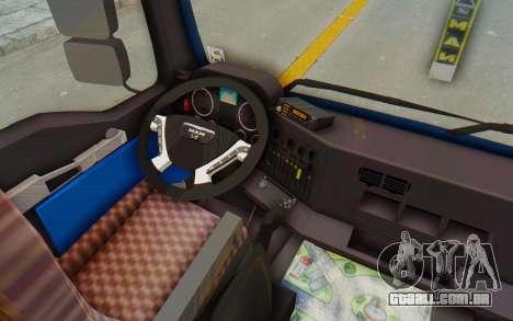 MAN TGA Energrom Edition v1 para GTA San Andreas vista interior