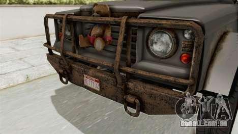 GTA 5 Canis Bodhi Trevor IVF para GTA San Andreas vista interior