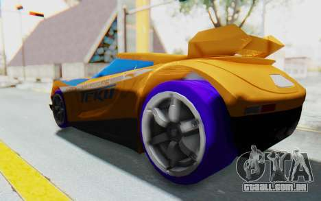 Hot Wheels AcceleRacers 4 para GTA San Andreas esquerda vista