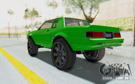 GTA 5 Willard Faction Custom Donk v3 para GTA San Andreas esquerda vista