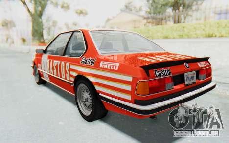 BMW M635 CSi (E24) 1984 IVF PJ3 para as rodas de GTA San Andreas