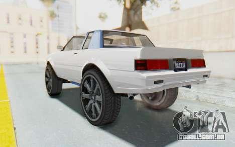 GTA 5 Willard Faction Custom Donk v2 para GTA San Andreas esquerda vista