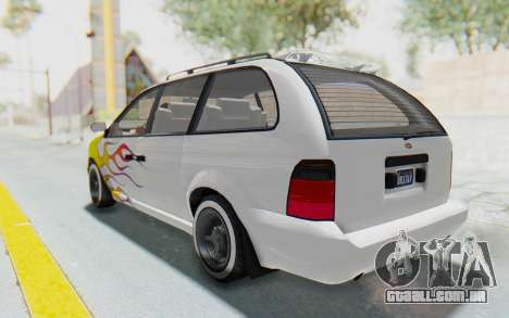 GTA 5 Vapid Minivan Custom para as rodas de GTA San Andreas