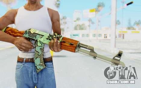 CS:GO - AK-47 Fire Serpent para GTA San Andreas terceira tela