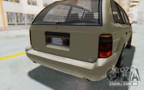 GTA 5 Vapid Minivan IVF para GTA San Andreas vista inferior