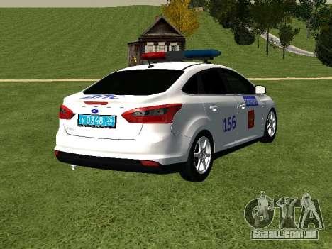 Ford Focus ДПС para GTA San Andreas traseira esquerda vista
