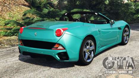 GTA 5 Ferrari California Autovista [add-on] traseira vista lateral esquerda